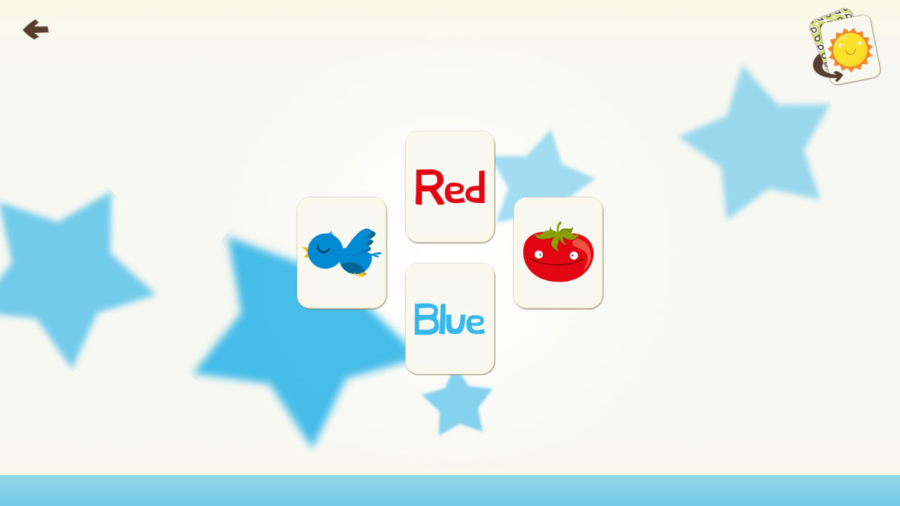 Kids Color and Shape Card Matching screenshot