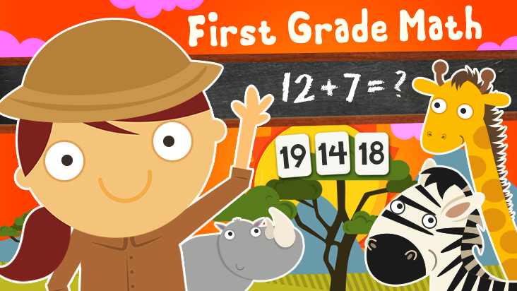 123 Animal First Grade Math Games for Kids
