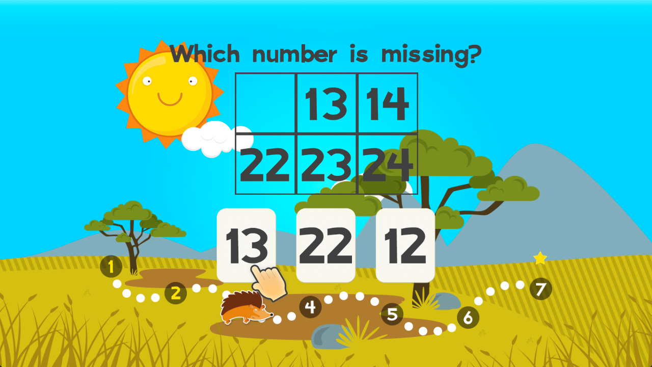 123 Animal First Grade Math Games for Kids screenshot