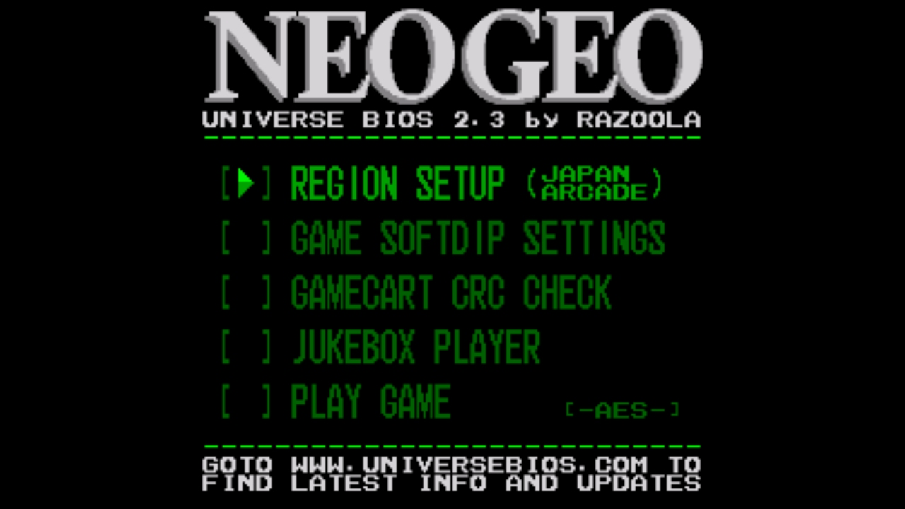 NEO.emu screenshot