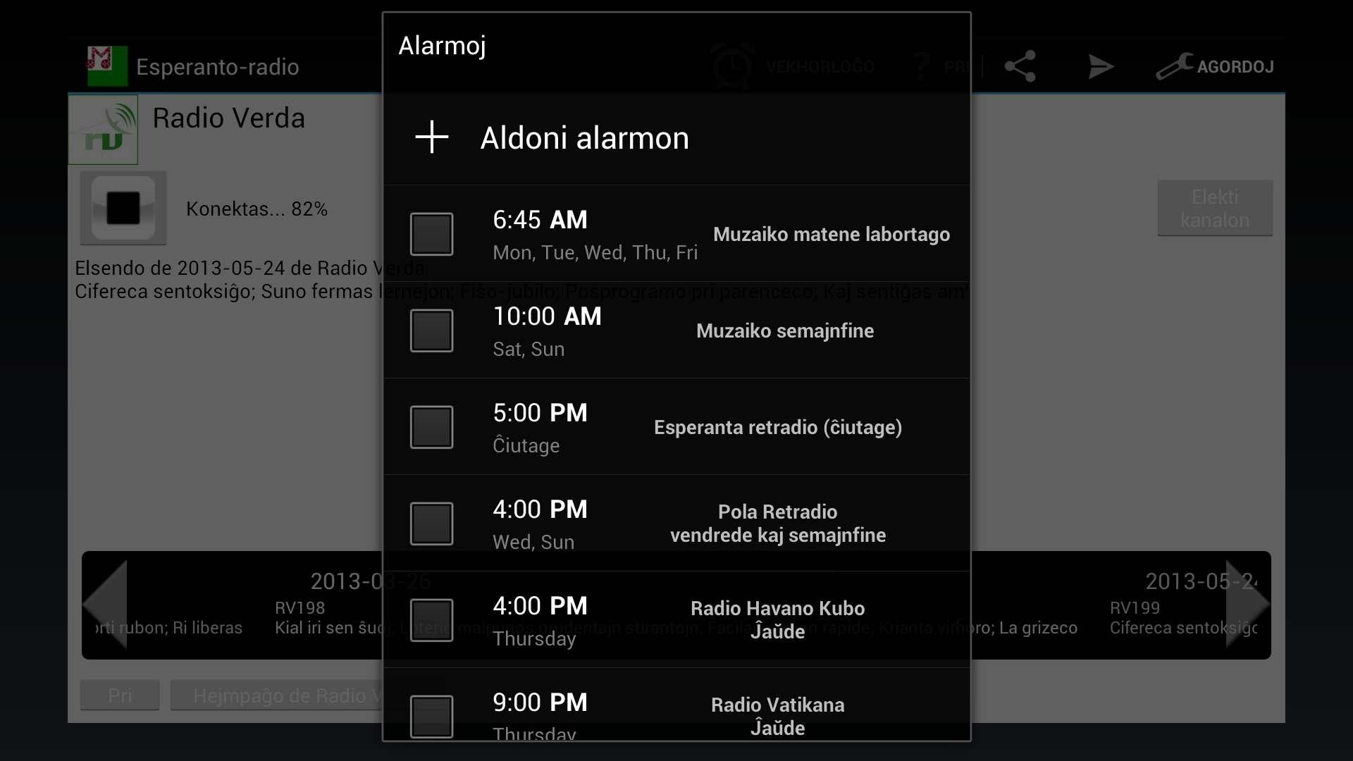 Esperanto-radio Muzaiko screenshot