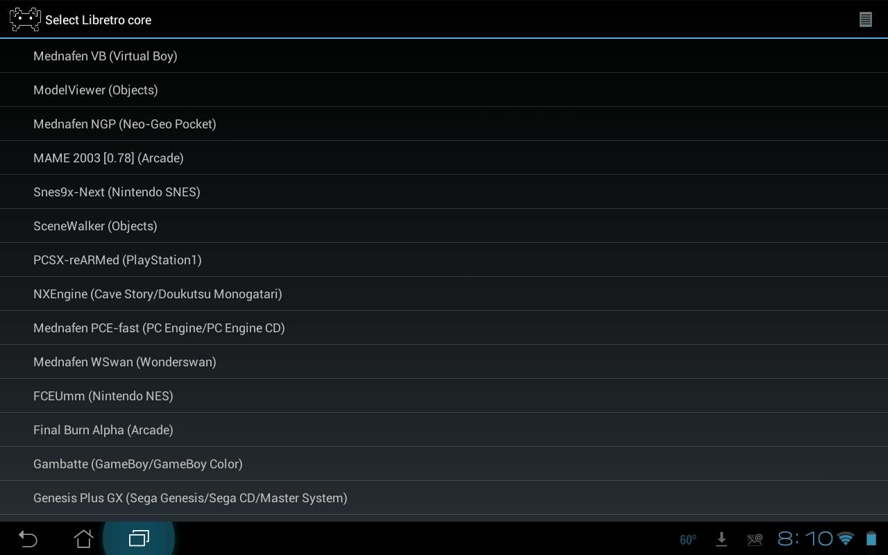 RetroArch All-In-One Emulator - Legacy screenshot