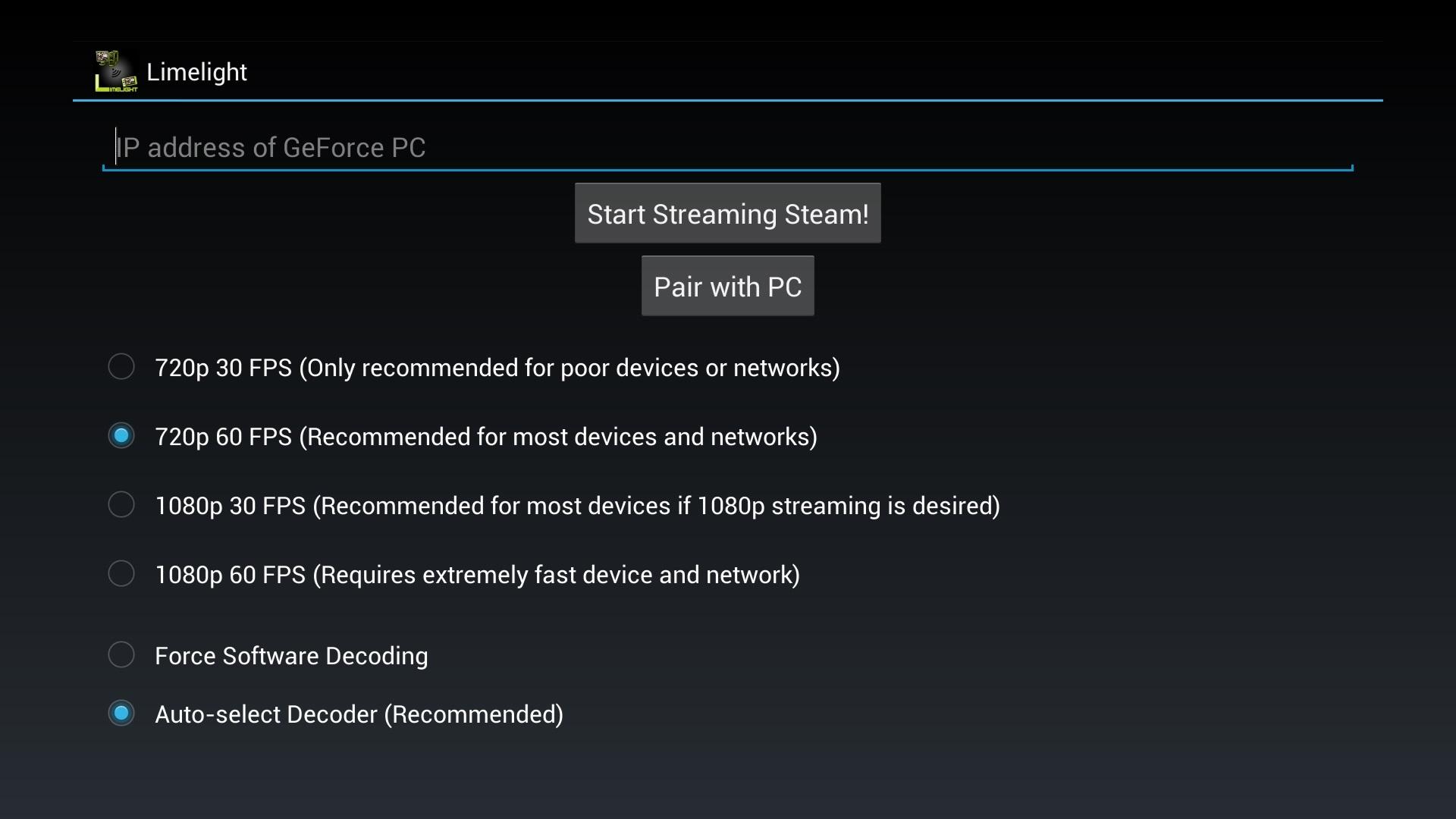 Moonlight Game Streaming screenshot