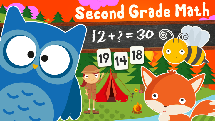 123 Animal Second Grade Math Games for Kids